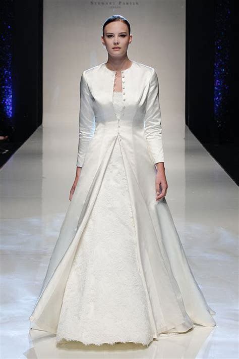 Vision of Love by Stewart Parvin Duchess satin bridal coat