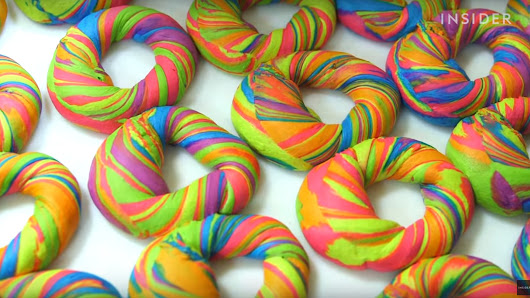 Watch How the World's Most Colorful Bagels Are Made