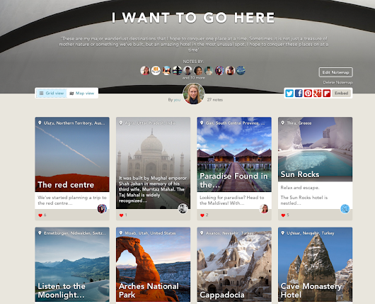 my dreams are made of these: i want to go here -notemap on findery