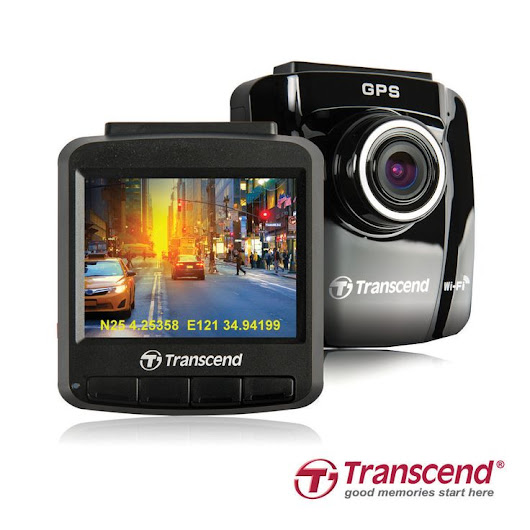 "Transcend DrivePro 230 Dashcam The recorder's built-in battery, emergency recording, ƒ/1.8 aperture lens, snapshot feature, and bright 2.4"" color… 