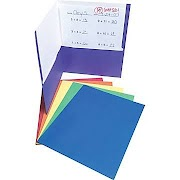 Staples® 2 Pocket Folder with Fasteners, Assorted Colors