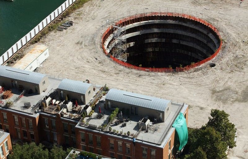 Landscaping Will Conceal, But Not Fill, This Giant Chicago Hell Pit