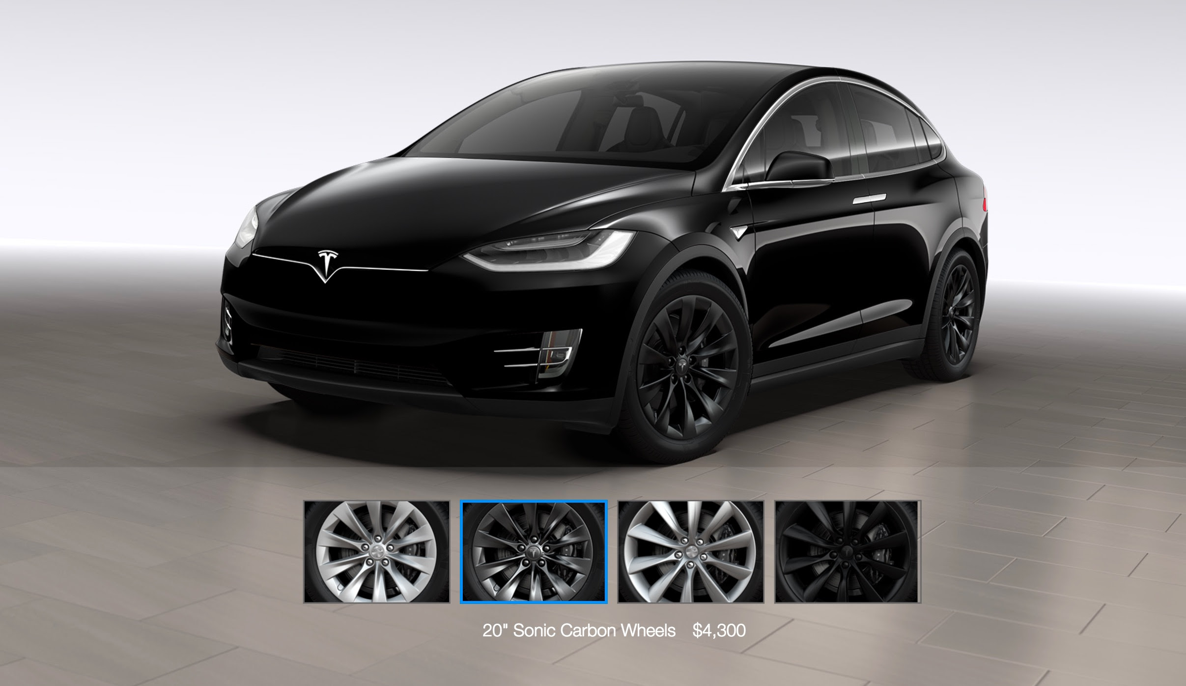 Tesla Model X Gets A 20 Sonic Carbon Wheel And Center Console Option