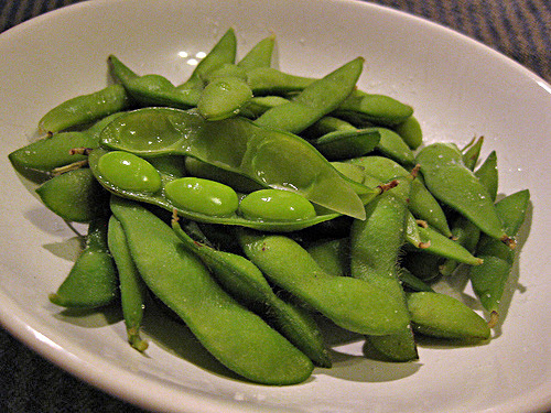 boiled soy bean pod