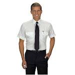 Van Heusen Men's White Short Sleeve Aviator Shirt