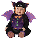 In Character Baby Bat Infant Toddler Costume, Black/Purple