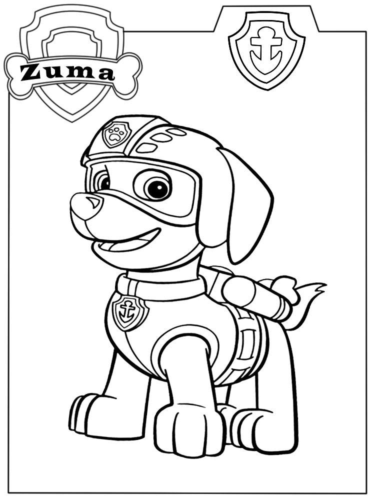 Dibujos Para Colorear Paw Patrol Para Niños