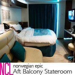 Norwegian Epic Aft Balcony Stateroom