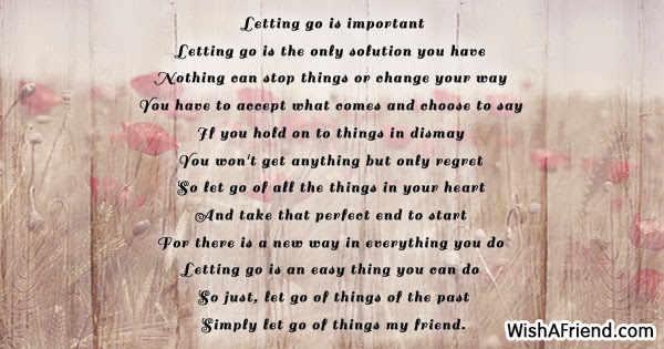 Letting Go Is Important Inspiring Poem