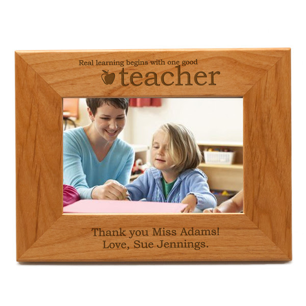 Personalized Teacher 3x3 Wood Photo Frame Engraved Picture Frame