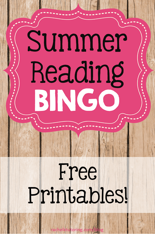 Summer Reading Bingo - Rachel K Tutoring Blog
