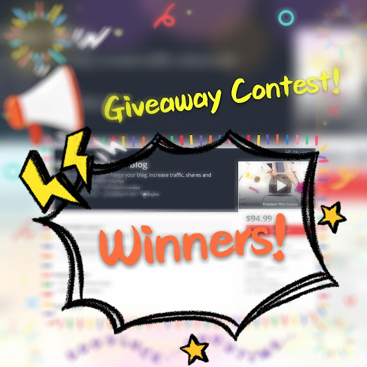 Exclusive Blogging Course Giveaway Contest [Winners #23]! — Steemit