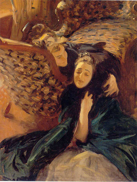 John Singer Sargent, Violet Sargent and Flora Priestley