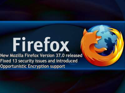 New Mozilla Firefox Version 37.0 fixed 13 security issues and introduced Opportunistic Encryption support - blackMORE Ops - 2