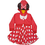 Western Chief Kids Minnie Mouse Rain Coat - Red 4T