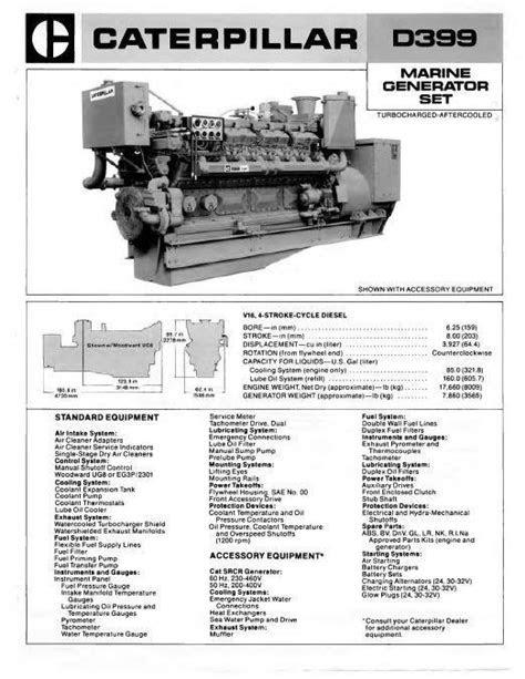 Caterpillar diesel engine specs