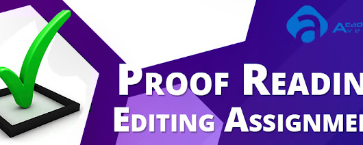 Proof Reading Editing Assignment Help