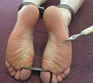 cuffed ankles and toes