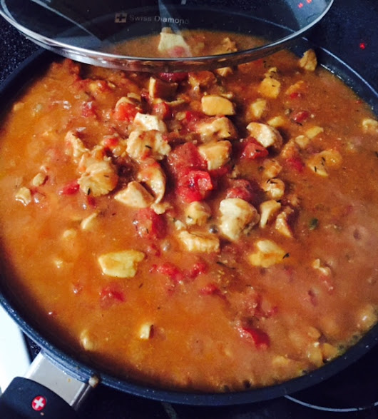 One Skillet Easy Creole Chicken - Just Marla