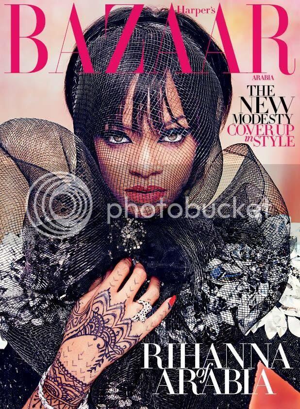 Snapshots: Rihanna covers Harper's Bazaar Arabia...