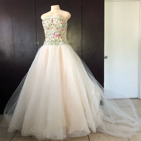 Lazaro Dresses   Gorgeous Pale Sherbet Wedding Dress