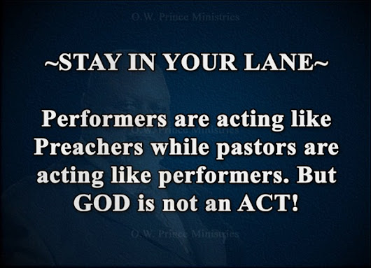 GOD IS NOT AN ACT!