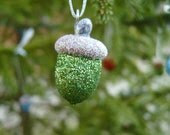Christmas Mix Glittered Acorn Ornies - BirchHillCrafts