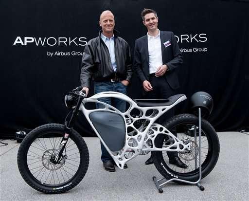 unidad de Airbus desvela motocicleta eléctrica impresa en 3D