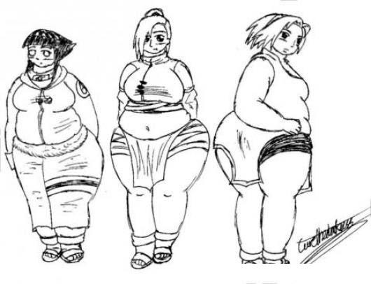 Dibujo De Chicas Gordas Y Obesas Para Pintar Y Colorear Gorditas