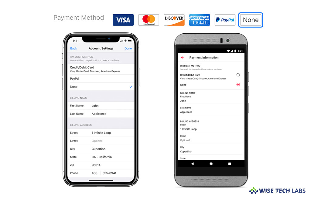 How To Change Or Remove Your Apple Id Payment Information Using Your Ios Or Android Device Blog Wise Tech Labs