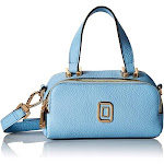 Luana Italy Women's Soft Pebble Leather Crossbody Bag with Adjustable Leather Strap, Vibrant Blue