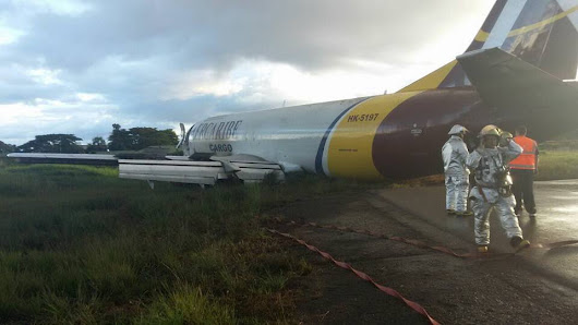 [INCIDENT] Aer Caribe Boeing 737 overruns Runway on Landing at Alfredo Vásquez Cobo Airport