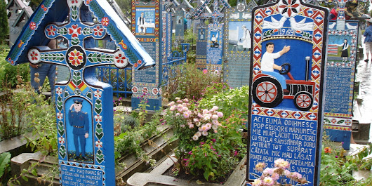 Welcome To The 'Merry Cemetery,' Perhaps The Most Colorful Graveyard In The World