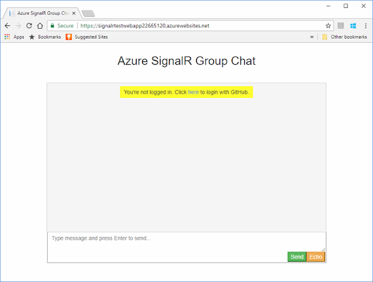 Tutorial for authenticating Azure SignalR Service clients | Microsoft Docs