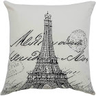 "Off White Eiffel Tower Throw Pillow 20""x20"" Rizzy Home"