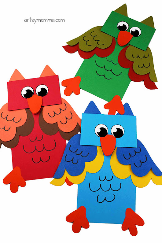 How To Make A Paper Bag Owl Craft Puppet for Imaginative Play - Artsy Momma
