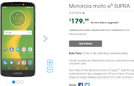 Moto E5 Plus launches at Cricket as Moto E5 Supra