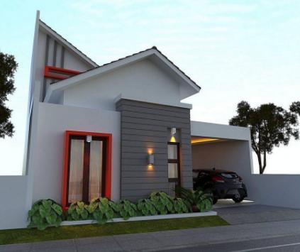 20 Contoh Rumah Minimalis Sederhana Modern Tampak Depan 16