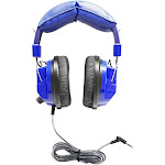 Blue Deluxe Headphone with 35Mm Plug And Volume - Hamilton VCOM