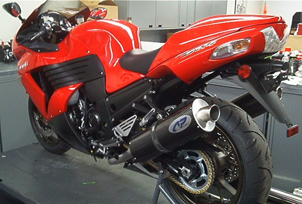 Kawasaki Zx 14 Slip On Exhaust Area P No Limits