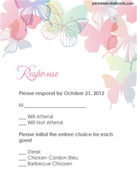 Spring Butterflies Wedding Invitation Set ? Wedding