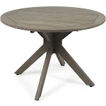 Noble House Stamford Outdoor Dining Table with x Base in Gray Finish | ShopLadder