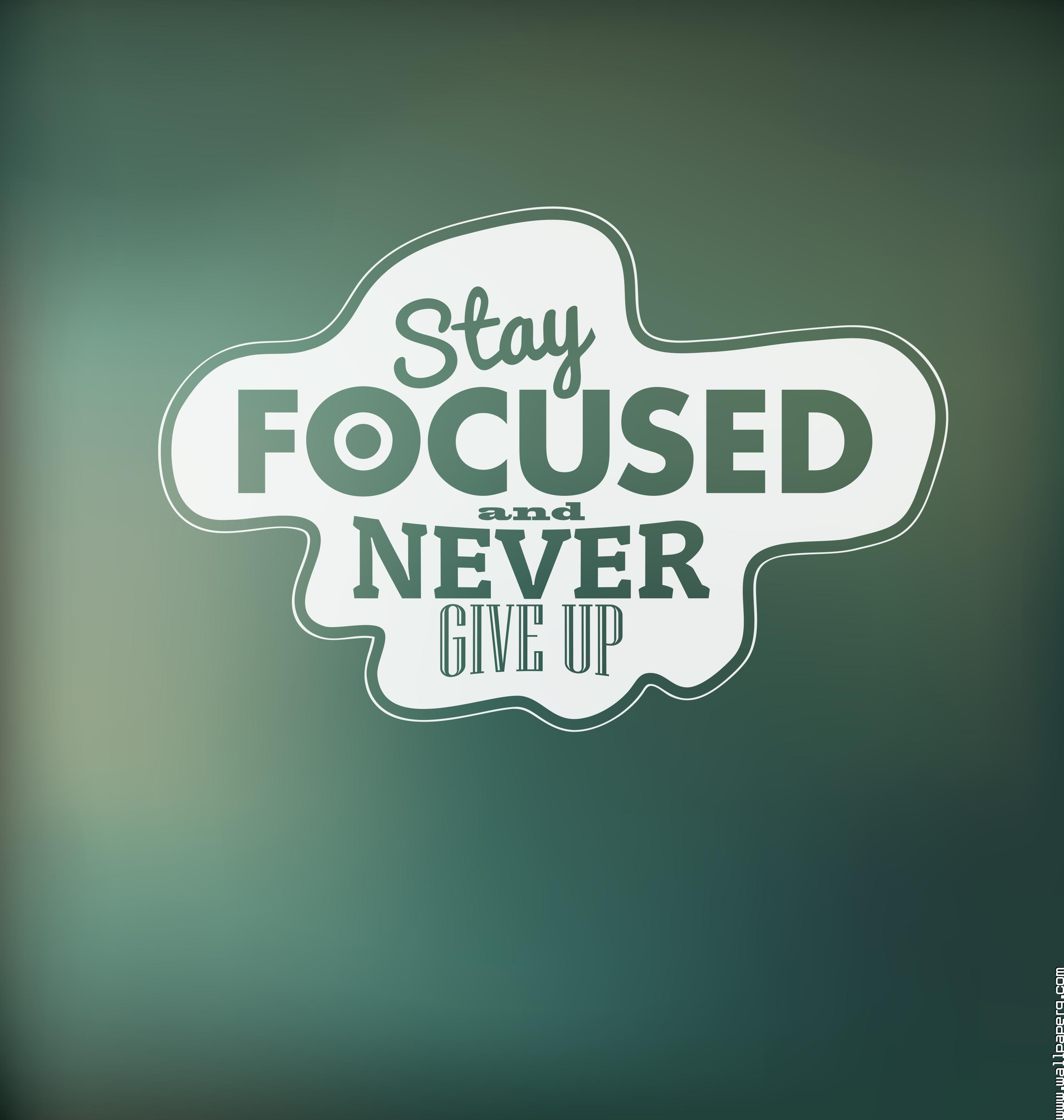 Download Stay Focused And Never Give Up Motivational Quote