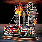 Brotherhood Of Bravery Firefighting Figurine: Firefighter Decor