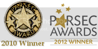 2010 and 2012 Parsec Award Winner