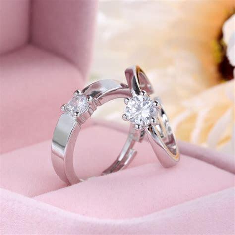 Engagemant Wedding Rings Charm Lovers Rings Luxury Classic