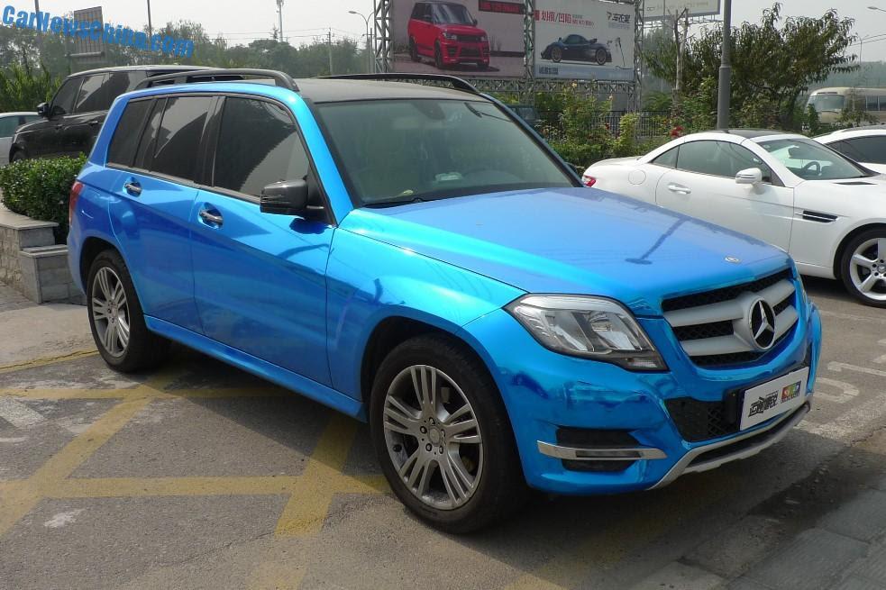 Mercedes-Benz GLK is shiny blue in China - CarNewsChina.com
