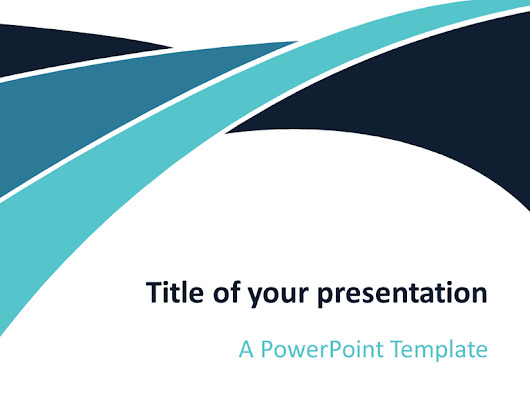 Blue Wave PowerPoint Template - PresentationGo.com
