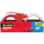 """3M Scotch Packaging Tape with Dispenser, 1.88"""" x 54.6 yds - 2 pack"""