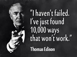 [Photo of Thomas Edison with words superimposed]